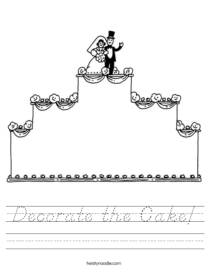 Decorate the Cake! Worksheet