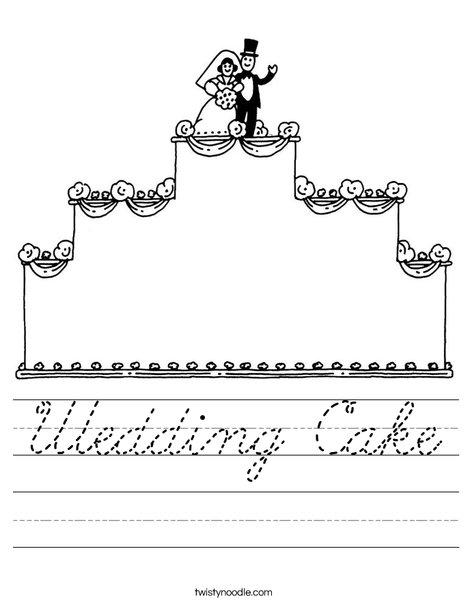 Wedding Cake with topper Worksheet