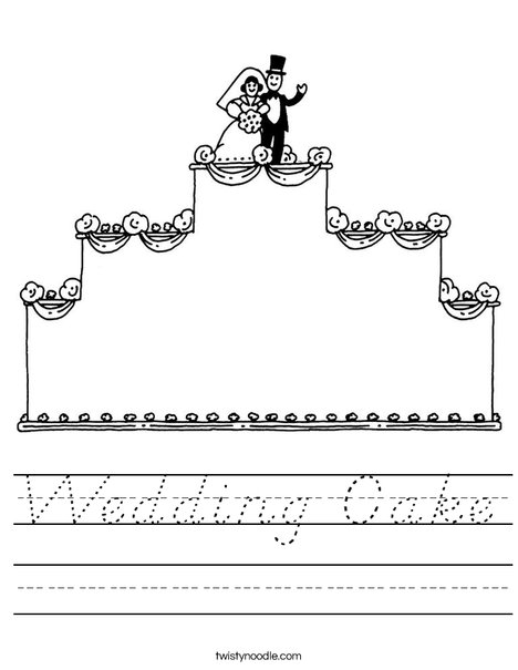 Wedding Cake with topper Worksheet