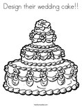 Design their wedding cake!!Coloring Page