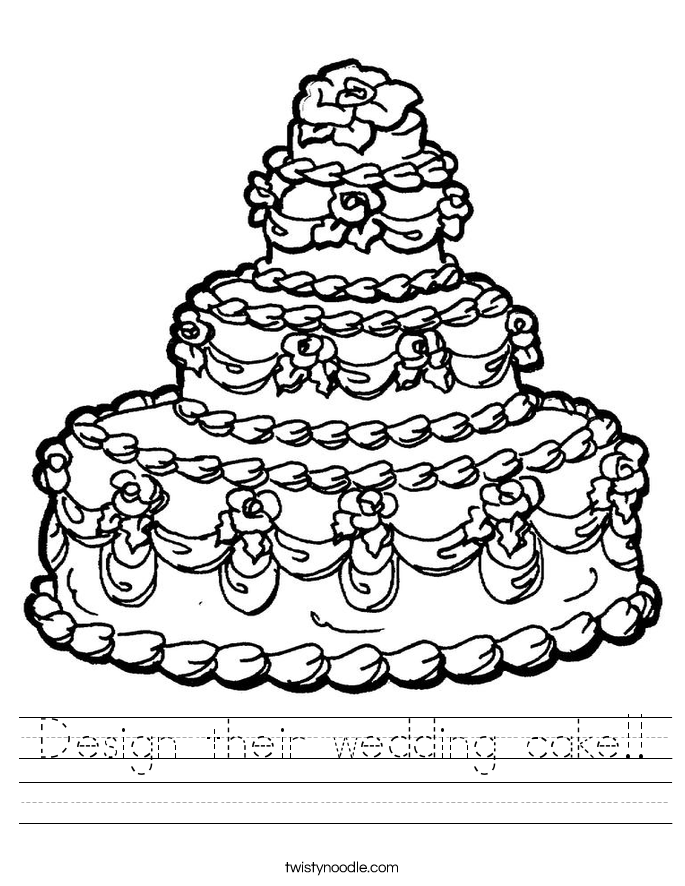 Design their wedding cake!! Worksheet