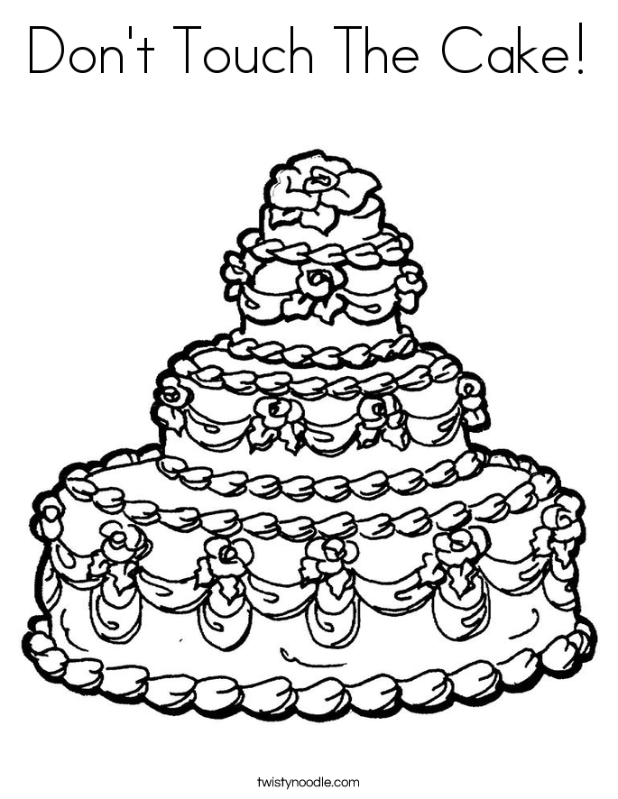 Don't Touch The Cake! Coloring Page