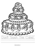 Don't Touch The Cake! Worksheet