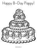 Happy B-Day Pappy! Coloring Page