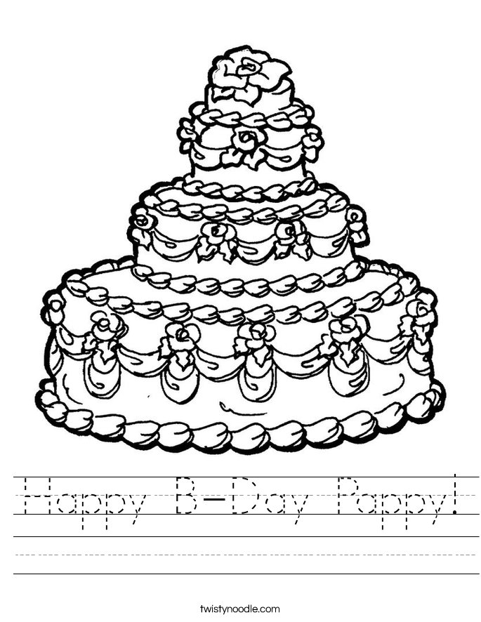 Happy B-Day Pappy! Worksheet