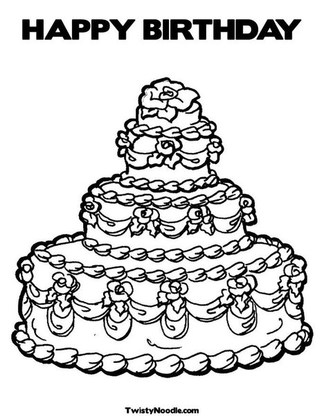 Coloring Pages For Birthdays Birthday Coloring Page Kids About To
