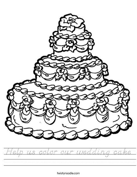 Wedding Cake Worksheet