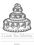I Love You Mommy Worksheet
