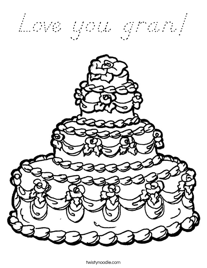 Love you gran! Coloring Page