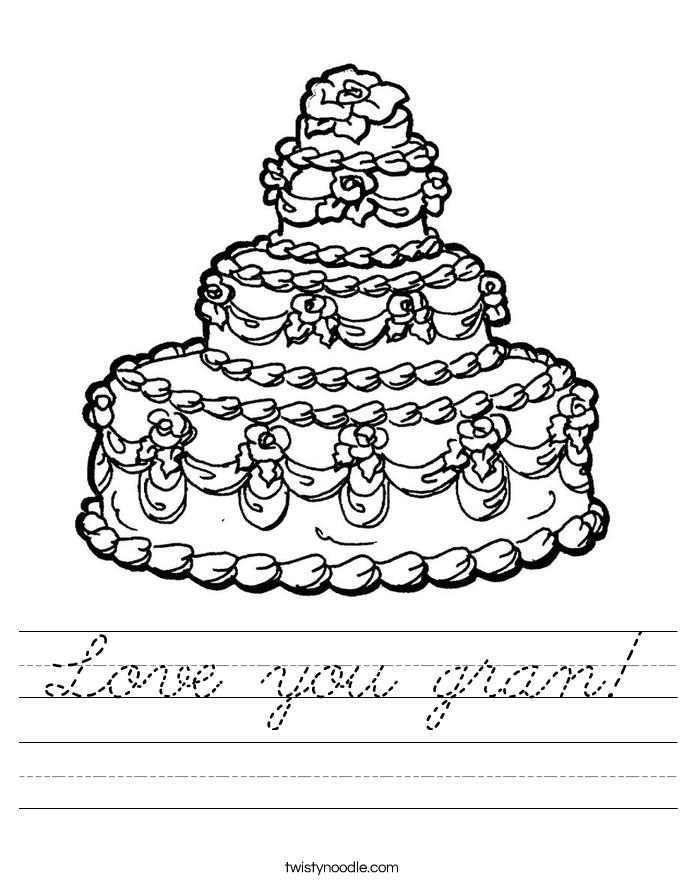 Love you gran! Worksheet