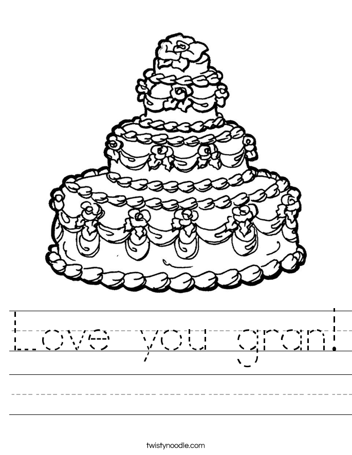 Love you gran! Worksheet