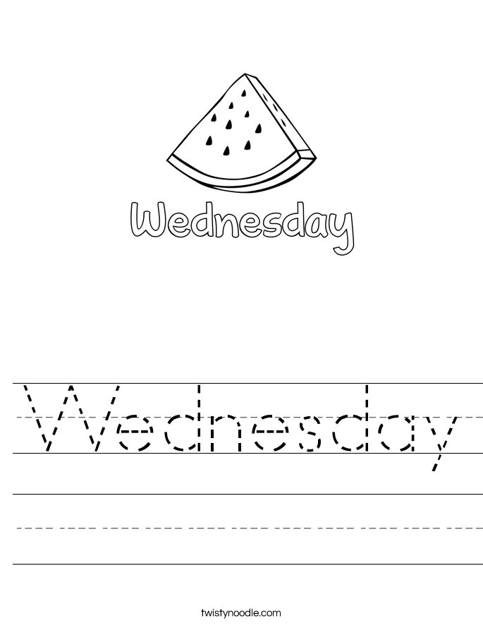 Wednesday Worksheet