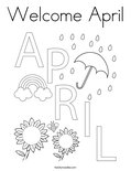 Welcome April Coloring Page