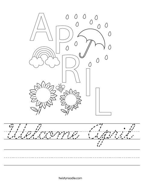 Welcome April Worksheet