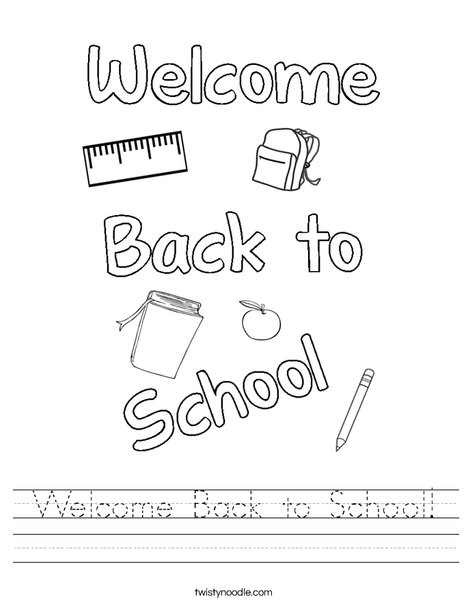 Back to School Coloring Worksheet