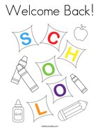 Welcome Back Coloring Page
