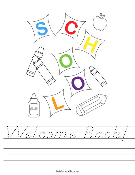 Welcome Back! Worksheet