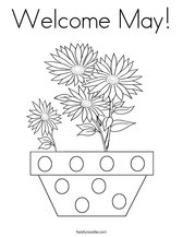 Welcome May! Coloring Page