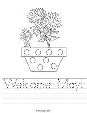 Welcome May Handwriting Sheet