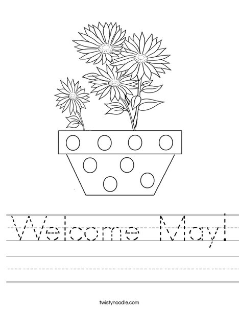 Welcome May Worksheet