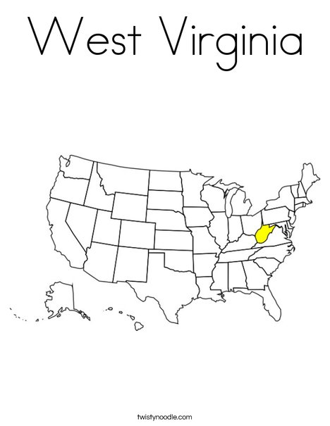 West Virginia Coloring Page