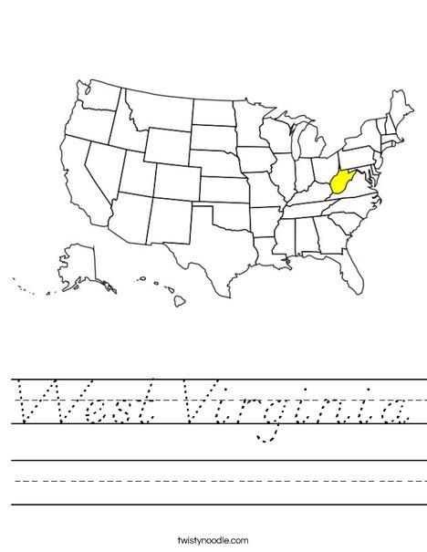West Virginia Worksheet