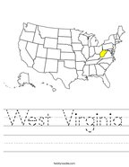 West Virginia Handwriting Sheet