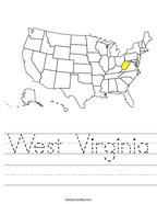 West Virginia Handwriting Sheet