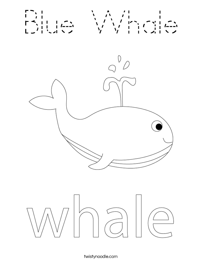 Blue Whale Coloring Page