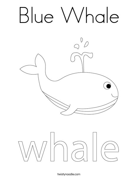 Whale Coloring Page
