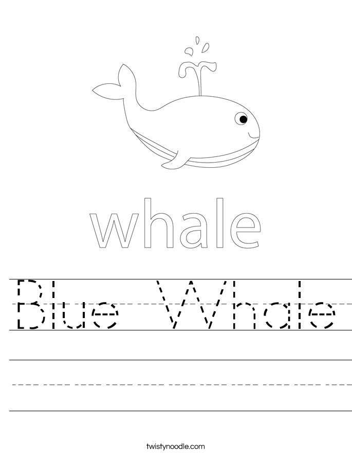 Blue Whale Worksheet