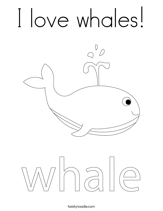 I love whales! Coloring Page