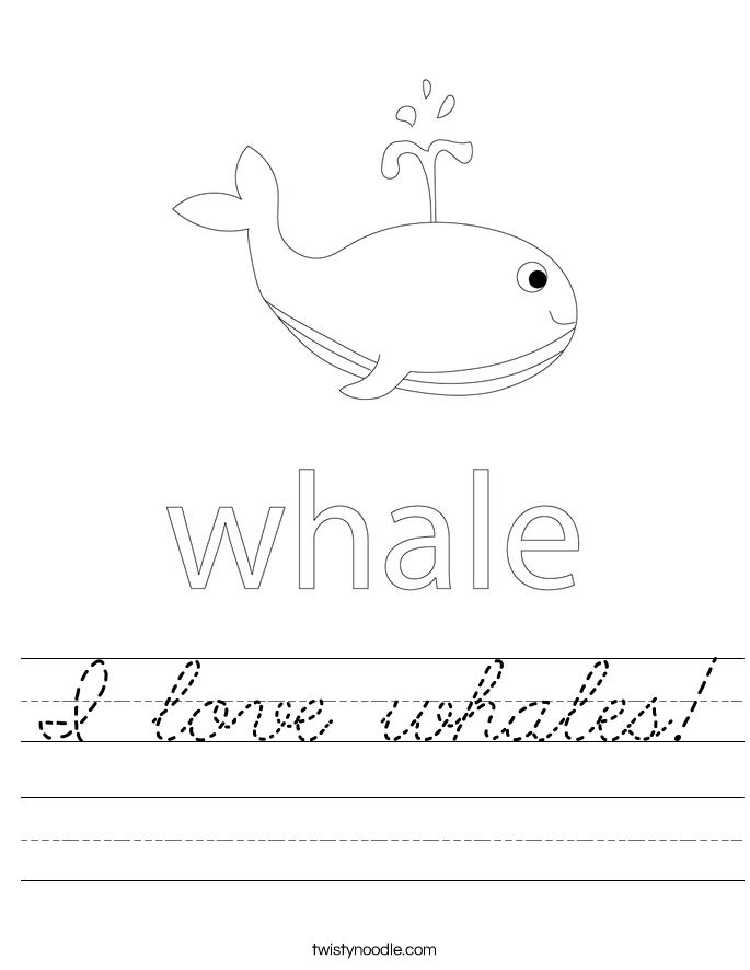 I love whales! Worksheet