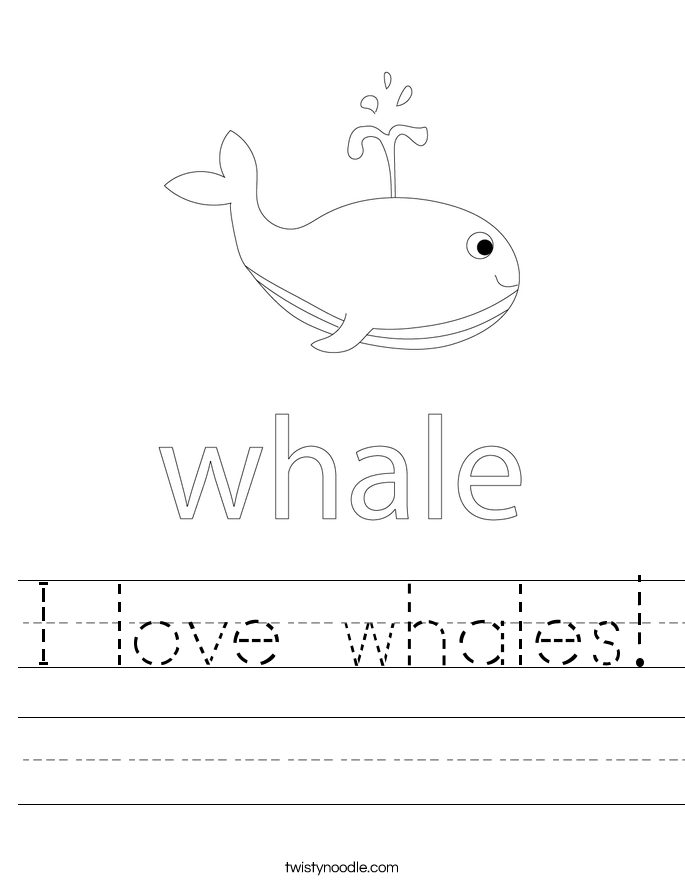 I love whales! Worksheet