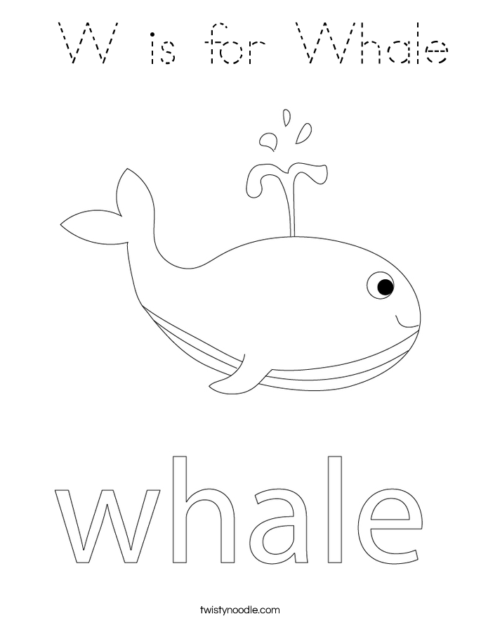 Cute whale coloring
