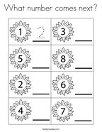 What number comes next Coloring Page