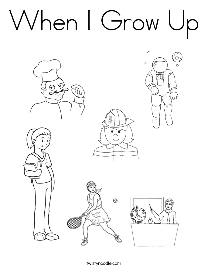 When I Grow Up Coloring Page