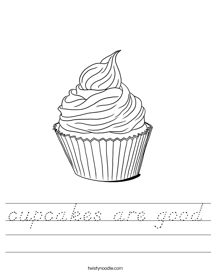 whimsical cupcake coloring pages - photo#33