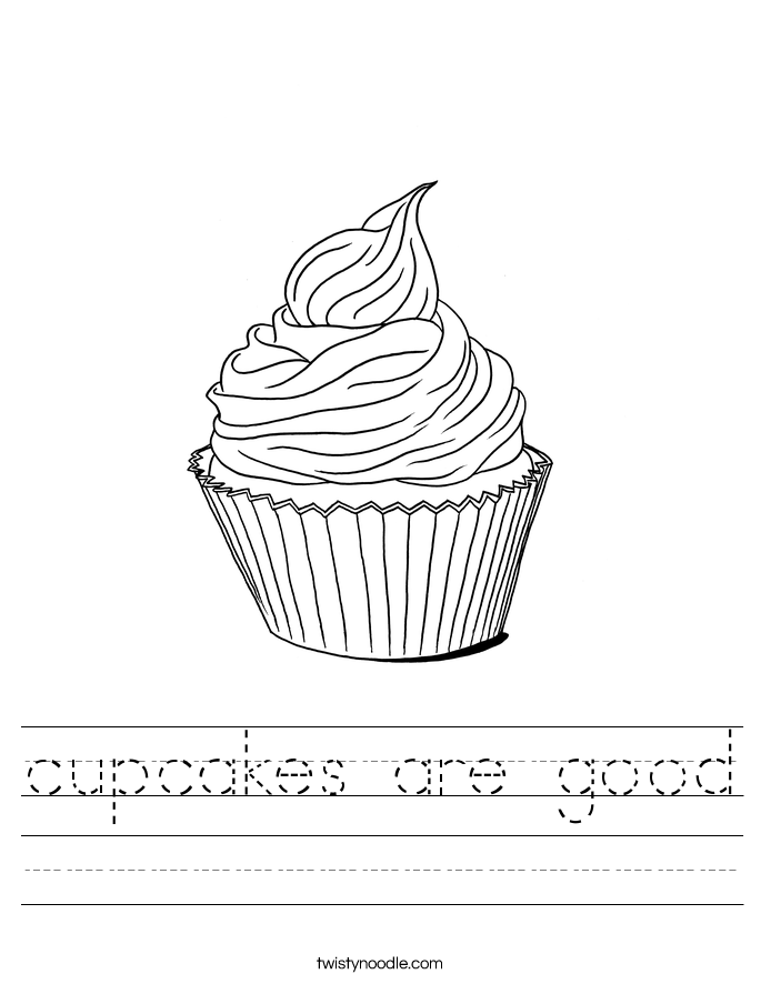 cupcakes are good Worksheet