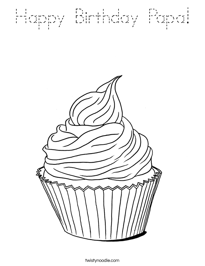 whimsical cupcake coloring pages - photo#29