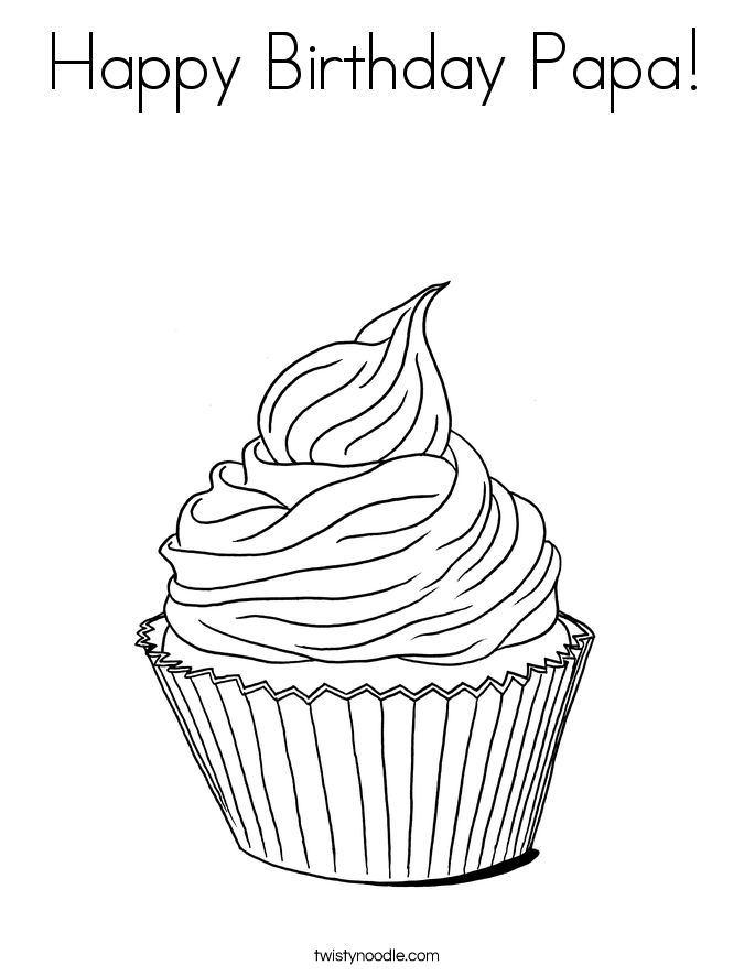 whimsical cupcake coloring pages - photo#31
