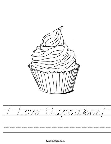 Whimsical Cupcake Worksheet