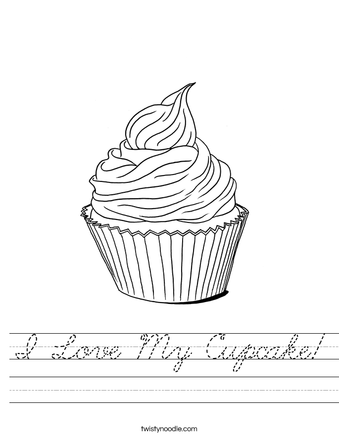 I Love My Cupcake! Worksheet