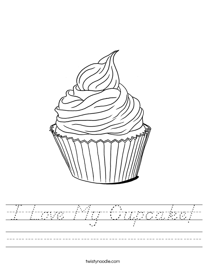 I Love My Cupcake! Worksheet