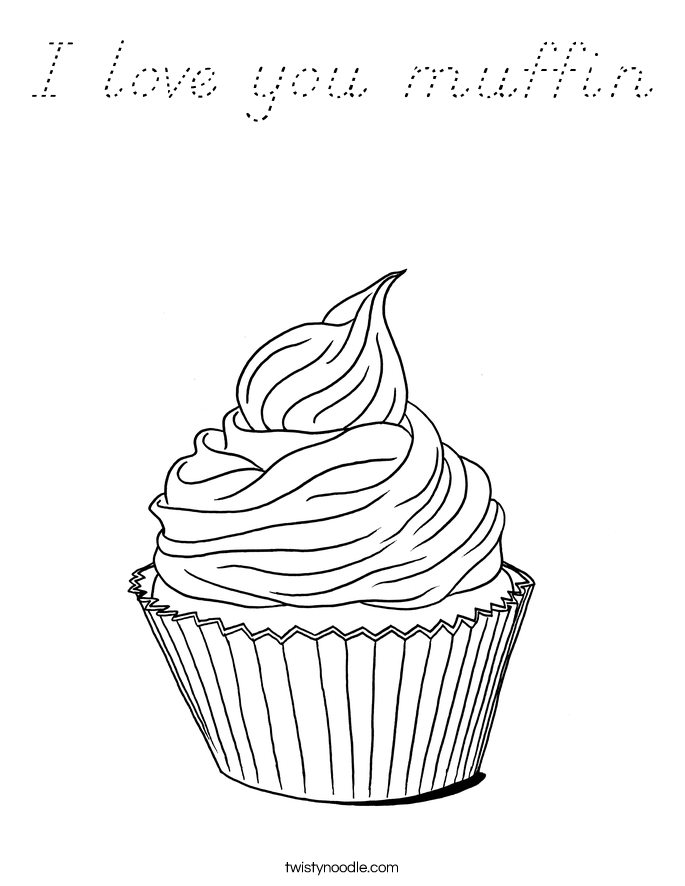 whimsical cupcake coloring pages - photo#30
