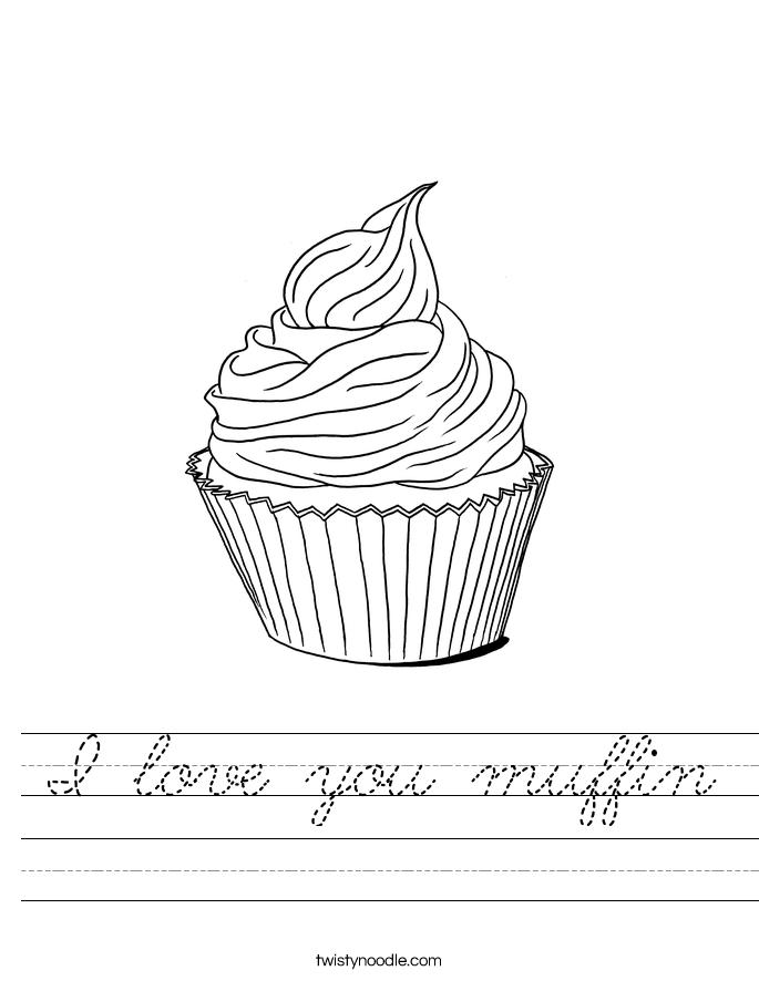 I love you muffin Worksheet