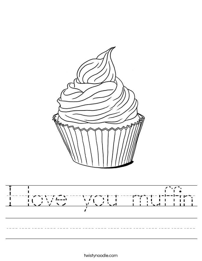 I love you muffin Worksheet