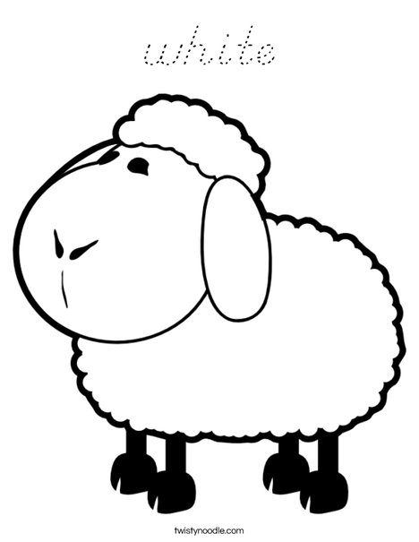 White Sheep Coloring Page
