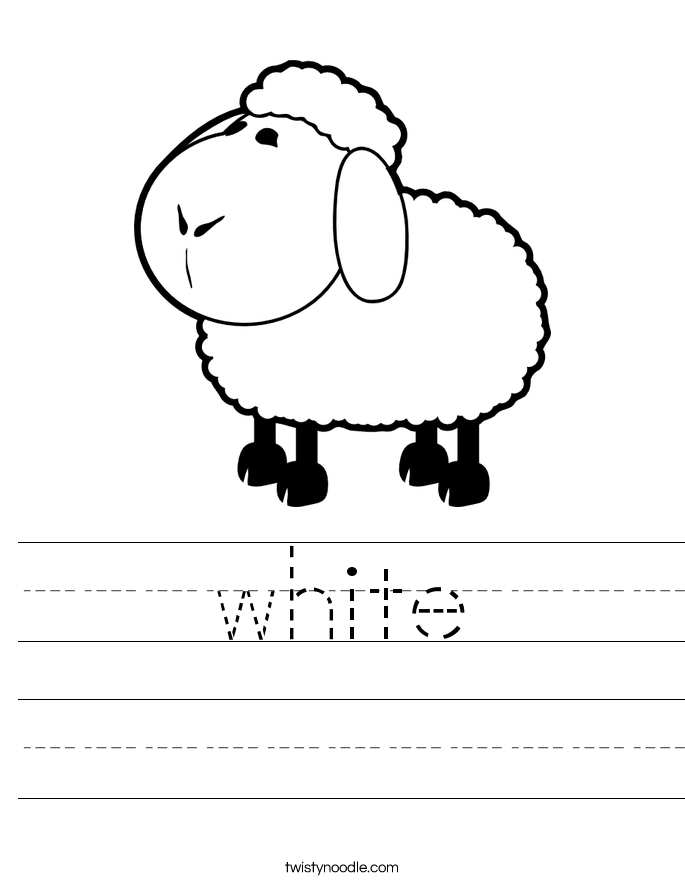 white Worksheet