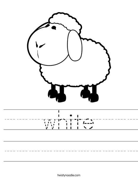 White Sheep Worksheet
